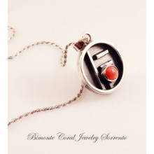 """Scudo"" Red Coral Necklace"
