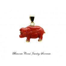 """""""The Pig"""" Coral Pendant"""