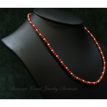 """""""Anteros"""" Red Italian Coral Necklace"""