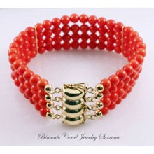 """The Amalfi Coast"" Red Coral Bracelet"