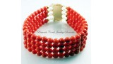 """The Amalfi Coast"" Red Coral Bracelet"