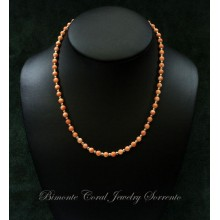 """Murielle's Necklace"" Pink Coral and Gold"
