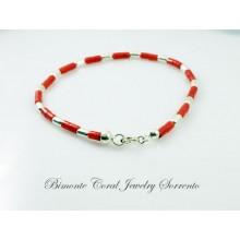"""""""Scuro"""" Coral and Silver Bracelet"""