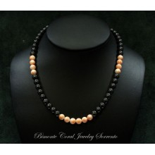"""Palermo"" Hematite and Coral Necklace"
