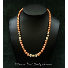 """Criside"" Coral and Pearl necklace"