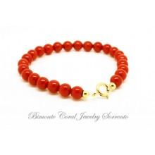 6 mm Red Italian Coral Bracelet