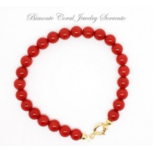 7 mm Red Italian Coral Bracelet