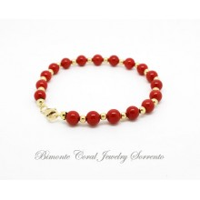 """Regina Giovanna"" Red Italian Coral Bracelet"