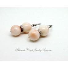 """""""Pale"""" Pink Coral Earrings"""