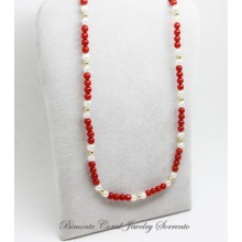 """Amalfi Coast Red"" Coral Necklace"