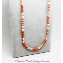 """Amalfi Coast Pink"" Coral Necklace"
