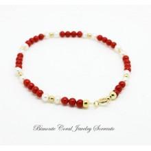 """Amalfi Coast Red "" Coral Bracelet"