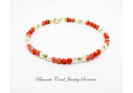 """Amalfi Coast Pink"" Coral Bracelet"