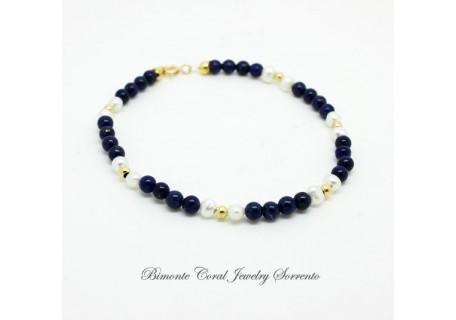 """Amalfi Coast Blue"" Lapis Lazuli Bracelet"