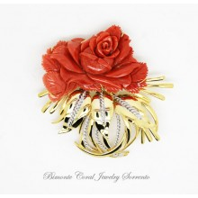 """My Rose"" Coral Brooch"
