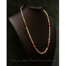 """Herculaneum"" Coral Necklace"