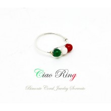 """""""Ciao"""" Coral Ring"""