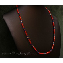 """Marina"" Coral and Lapis Necklace"