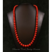 """""""Laccio"""" Red Italian Coral Necklace"""