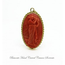 """Muse of the Music"" Coral Pendant"