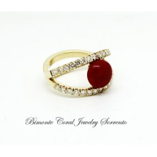 """""""Infinito"""" Red Coral Ring"""