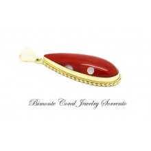 """Drops"" Red Coral Pendant"