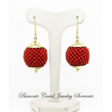 """Tessito"" Red Italian Coral Earrings"