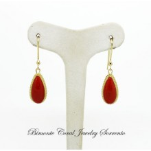 """Goccia"" Red Coral Earrings"
