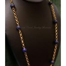 """Vincenza"" Lapis Lazuli Stone Necklace"