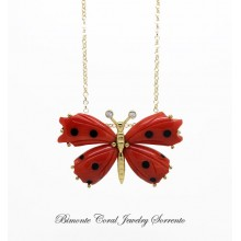"""""""Papillon"""" Red Coral Necklace"""