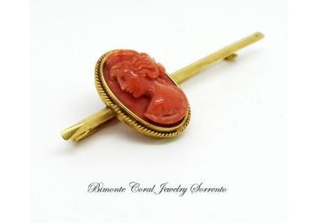 """""""Venus"""" Antique Coral Brooch"""
