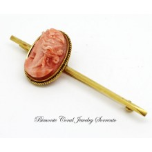 """Medusa Antique Coral Brooch"