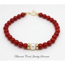 """Luna"" Red Italian Coral Bracelet"