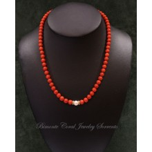 """Luna"" Red Italian Coral Necklace"