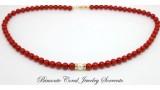 """Luna"" Red Italian Coral Necklace"