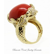 """""""Syren"""" Red Coral Ring"""