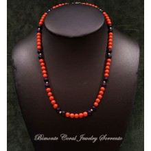 """Layla"" Coral and Lapis Necklace"