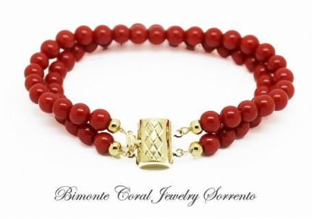 """Duo"" Red Italian Coral Bracelet"