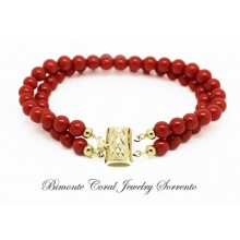 """Duo"" Red Italian Coral Bracelet"