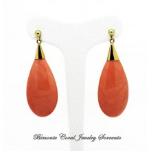 """Le Gocce"" Coral Earrings"