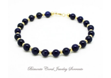 """Blue"" Lapis Lazuli Stone Bracelet"