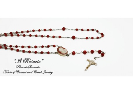 """""""The Coral and Cameo Rosary Beads"""""""