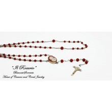 """The Coral and Cameo Rosary Beads"""