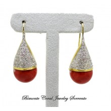 """Penelope"" Red Coral Earrings"