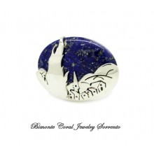 """Starry Starry Night "" Lapis Lazuly Brooch"
