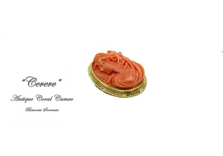 """Cerere"" Antique Coral Brooch"