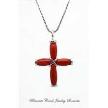"""The Coral Cross"" Necklace"