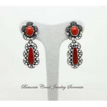"""""""Florence"""" Coral Earrings"""