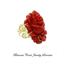 """""""The Red Rose"""" Coral Ring"""