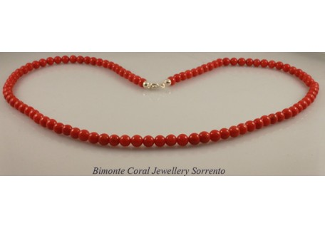 Traditional Red Coral Necklace